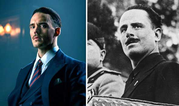real pictures of Peaky blinders characters in real life - Oswald Mosley in peaky blinders